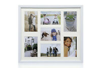 "Multi Aperture 7 Photos 6x4"" Picture Frame White"