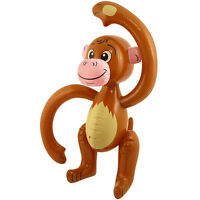 Pack 4 Inflatable Jungle Monkey 58cm Tropical Animal Chimp Ape Party Decoration