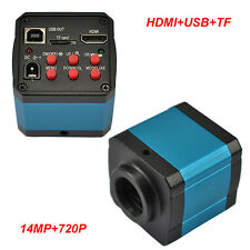 14MP C-mount TV HDMI USB Digital Industry Microscope Camera TF Video DVR Recoder