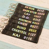 KPOP EXO Keychain CHANYEOL Keyring SEHUN BAEKHYUN Laser Lanyard XIUMIN CHEN KAI