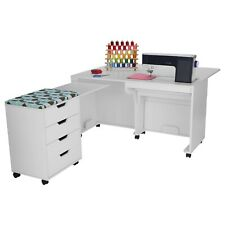 Arrow Laverne & Shirley Sewing Cabinet and Caddy in White
