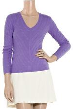 Ralph Lauren Black Label Purple cashmere pull sweater slim fit Sz S Small