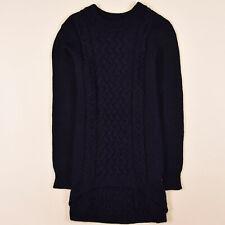 Simona Barbieri Damen Kleid Dress Gr.M (DE 38) Twin-Set Strick Wolle Navy, 69423