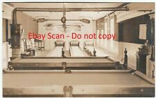 RARE Real Photo American Box Ball Skee Bowling Billiards Pool Interior 1908 RPPC