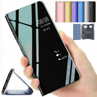 For HUAWEI Y5 Y6 Y7 Y9 PRO PRIME Smart View Mirror Leather Flip Stand Case Cover