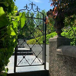 Garden Gate, Metal Decorative Ornamental Single with Posts 81x4x178cm