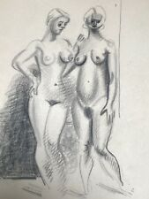 Dessin Original Encre NICOLAS WACKER (1897-1987) Peinture Russe Nus Feminin NW4