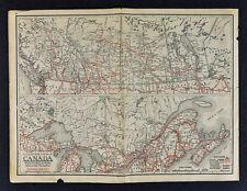 1930 Clason Road Map Canada Ottawa Montreal Toronto Winnipeg Vancouver Alberta