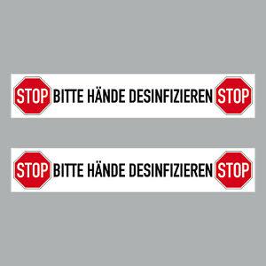 2 Sticker 7 7/8in Sticker Stop Please Hand Desinfizieren Notice 4061963068717