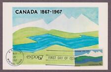 US # 1324 Canada Centenary Colorano Maxi Card - I Combine S/H