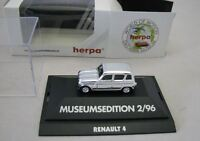 Herpa H0 1/87 Renault R4 chrome, Museumsedition 2/96