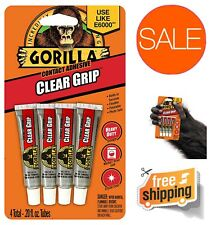 Gorilla Clear Grip Contact Adhesive Minis Flexible Paintable Waterproof Fast Dry