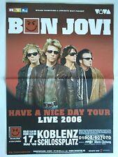 BON JOVI  2006  KOBLENZ  orig. Concert Poster - Konzert Plakat 118 x 84 cm  XX