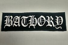 BATHORY Embroidered Patch NEW USA Seller FAST DELIVERY Black Metal Quorthon wte