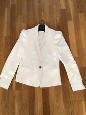 Zara Ivory Fitted Blazer Jacket Size Medium