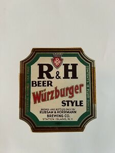 R&H Beer Label Ny