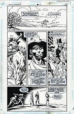 CHALLENGERS OF THE UNKNOWN #17 p.19 GEORGE FREEMAN - BILL REINHOLD 1998 Comic Art