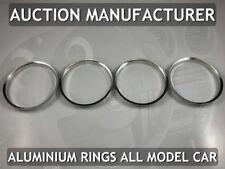 Seat Ibiza II FL 1999-2002 Aluminium Air Vents Surrounds Chrome Rings X 4 New