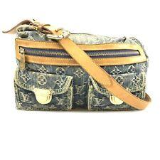 100% authentic Louis Vuitton Monogram Denim Baggy PM M95049 shoulder bag 36-1-a