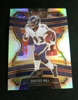 B30 Justice Hill 2019 Select Football Concourse Level SILVER RC Baltimore Ravens