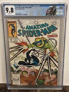 Amazing Spider-Man 299 CGC 9.8 White Macfarlane 1st Venom Cameo Custom Label