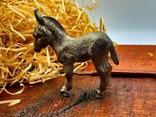 More details for vintage small cast silver metal small donkey figurine ornament