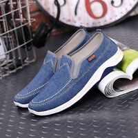 Mens Casual Stylish Canvas Slip On Shoes Walking Driving Flats Loafers Sneakers