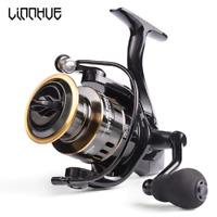 LINNHUE Fishing Reel HE7000 Max Drag 10kg 5.2:1 High Speed Metal Spool Spinning