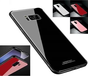 Tempered GLASS Shockproof Hybrid Case For Samsung Galaxy S7 S8 S9 S10 Plus Note