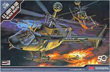 MODEL HELICOPTER ACADEMY U.S.ARMY OH-58D KIOWA BLACK DEATH 1:35 SCALE