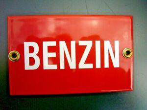 Emailschild - Benzin -
