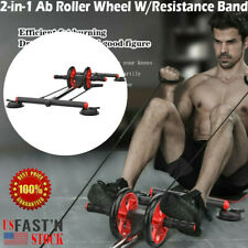 Ab Roller Wheel Workout Equipment Set For Abdominal Exercise Home Gym Fitness