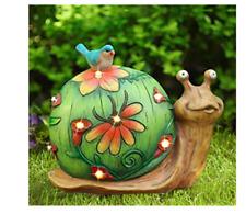 Snail Figurine Statue Art Animal Sculpture Garden Solar Power Lights 10