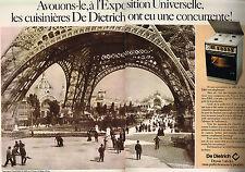 PUBLICITE ADVERTISING   1979   DE DIETRICH   cuisinière  (2 pages)
