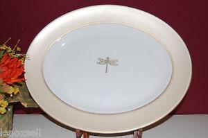 "Lenox Kate Spade June Lane Gold 13"" Oval Serving Platter New USA Free Shipping"