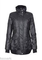 812 Apart Women's Outerwear Warm Zip Jacket Waterproof Black Parka Size M UK 10