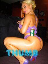 Nicole Coco Austin - 8x6 inch Photograph #014 in Purple Underwear & High Heels