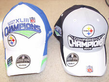 2 Pittsburgh Steelers Champions Hats..Set Of 2 RBK Hats