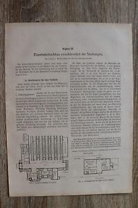 Aufsatz v Cornelius 1910-30 Eisenbahn Hochbau Siedlungen Architektur Gebäude  5S