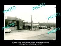 OLD LARGE HISTORIC PHOTO OF WYONG NSW, THE DISTRICT AMBULANCE OFFICE c1950
