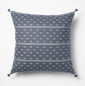 """Woven Dobby Throw Pillow Blue/Neutral Threshold™ by Studio McGee Target 20 x 20"""""""