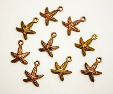10 x Copper Star Charm/Pendant Stamping Jewellery Findings Limited Edition DS157