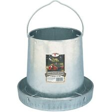 12lb CAPACITY GRAVITY FED GALVANIZED METAL FEEDER FOR CHICKEN COOP POULTRY CHOOK