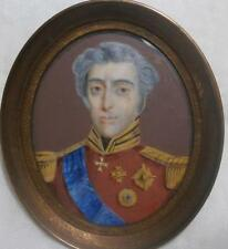 Fine 19thC français portrait miniature du duc de Wellington