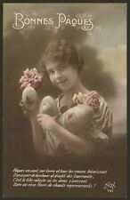 Bonnes Pâques. Happy Easter. France. Early French Easter Postcard