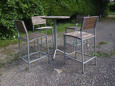 high metal framed patio table and chairs
