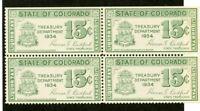 US Stamps Colorado 15c Liquor Tax 15c Liquor Tax VF OG NH 1934 Block Og 4
