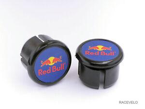 Red Bull Handlebar Plugs Bar End Caps vintage style retro guidon buchons