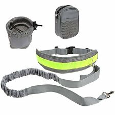 Hands Free Dog Leash for Running,Walking or Jogging with Zipper Pouch Adjustable
