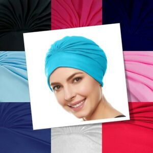 Ladies Swim Cap Turban Style Shower Bathing Waterproof Vintage Retro Headcovers